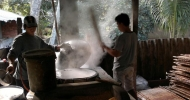 Vinh Long - Making rice paper